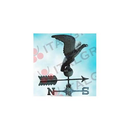 AQUILA SEGNAVENTO RAME ANTICO C/PUNTI CARDINALI Ø63