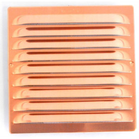 BORCHIA UNIVERSALE IN RAME X VENTILAZIONE quadra C/RETE 150X150