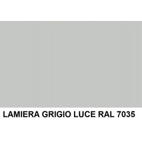 NASTRO LAMIERA GRIGIO LUCE RAL 7035 2F+PEL.  SP.6/10