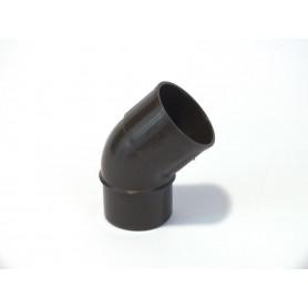 CURVA PLUVIALE PVC COL. MARRONE 45° Ø50