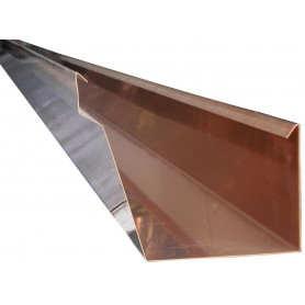 GRONDA A CASSETTA Base 10cm in RAME Sviluppo 33cm spess. 0,5mm con Scalino da Metri 2,0