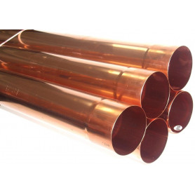 Tubo pluviale Elettrosaldato in Rame spessore 0,6mm, Ø60 da Metri 1,0