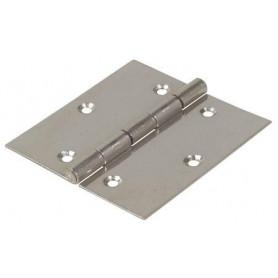Cerniera tipo quandra a libro in acciaio inox   Misure : Altezza:  (A) 30mm Larghezza: (B) 30mm