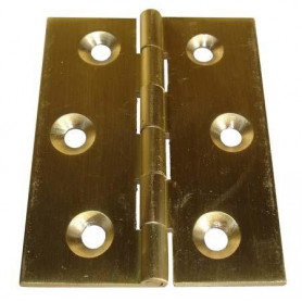 Cerniera tipo quandra a libro in ottone Misure : Altezza: (A) 30mm Larghezza: (B) 30mm