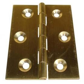 Cerniera tipo stretta a libro in ottone Misure : Altezza:  (A) 50mm Larghezza: (B) 40mm