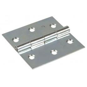 Cerniera tipo quandra a libro in Ferro zincato Misure : Altezza: (A) 30mm Larghezza: (B) 30mm