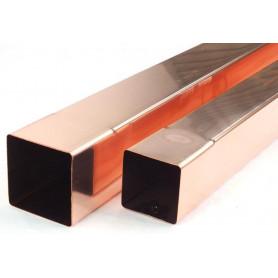 Tubo Pluviale Elettrosaldato in Rame spessore 0,5mm Quadro 80x80mm da Metri 1,0