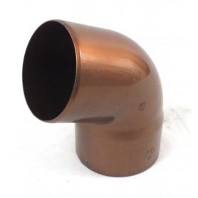 CURVA PLUVIALE PVC COLORE RAMATO 67° Ø80