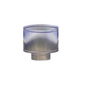 CAPPELLO A BOTTE INOX 304 Ø400 PER MODULO MONOPARETE