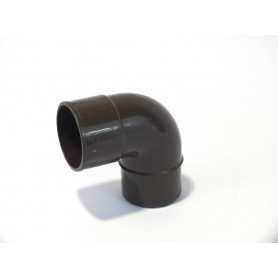 CURVA PLUVIALE PVC COL. MARRONE 87° Ø50