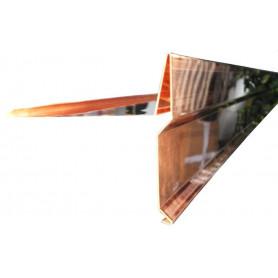 MANTELLINA a 'T' in RAME Sviluppo 40cm Spess. 0,5mm da Metri 2,0