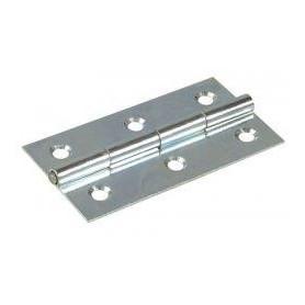 Cerniera tipo stretta a libro in Ferro zincato Misure : Altezza: (A) 75mm Larghezza: (B) 40mm