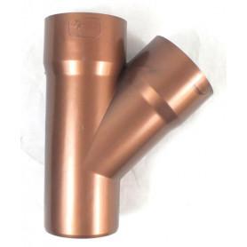 BRACA 45° PVC COL. RAMATO Ø80