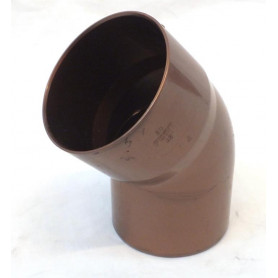 CURVA PLUVIALE PVC COLORE RAMATO 45° Ø80