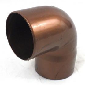 CURVA PLUVIALE PVC COL. RAMATO 87° Ø80