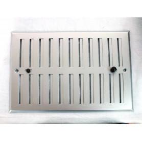 GRIGLIA REGOLABILE in Alluminio Anodizzato color ARGENTO 248X168mm
