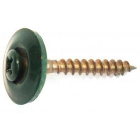 VITE INOX A2 Ø4,5x35 con rondella Guarnita Ø20 Color verde Muschio Ral 6005