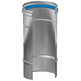MODULO MONOPARETE FUMI IN ACCIAIO INOX AISI 316L DA CM 50 Ø80-100-120-130-140-150-160-180-200-220-250-300 mm