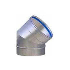 CURVA FUMI ACCIAIO INOX 316L ANGOLO 45° PER LINEA EUROSTAR Ø80-100-120-130-140-150-160-180-200-220-250-300 mm