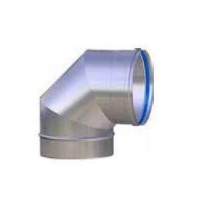 CURVA FUMI ACCIAIO INOX 316L ANGOLO 90° PER LINEA EUROSTAR Ø80-100-120-130-140-150-160-180-200-220-250-300 mm