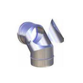 CURVA FUMI ISPEZIONABILE IN ACCIAIO INOX AISI 316L ANGOLO 90° PER MODULO MONOPARETE