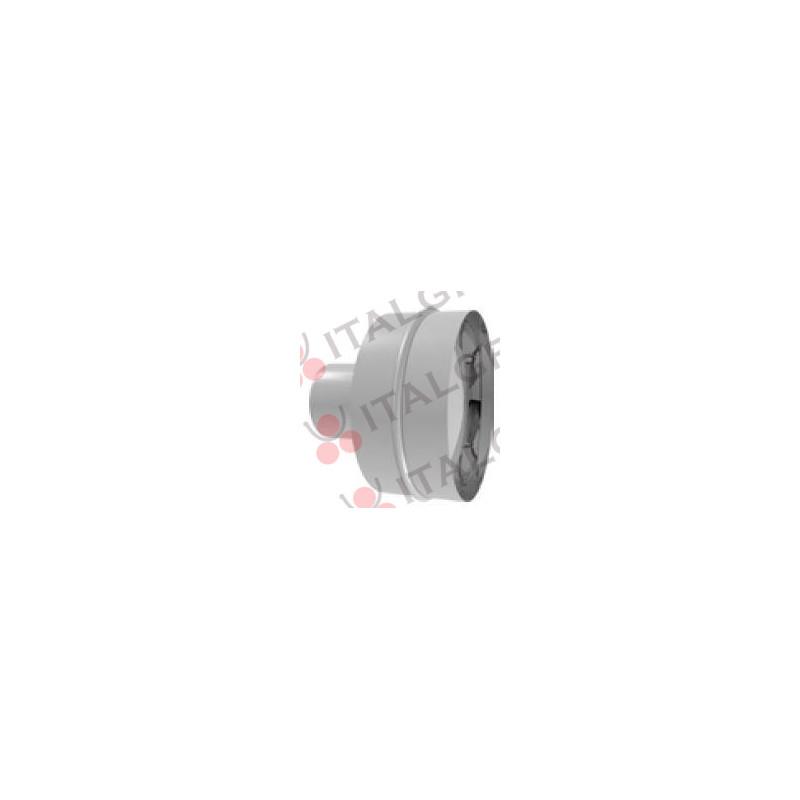 TERMINALE ORIZZONTALE IN ACCIAIO INOX AISI 316 PER LINEA EUROSTAR Ø80-100-120-130-140-150 mm