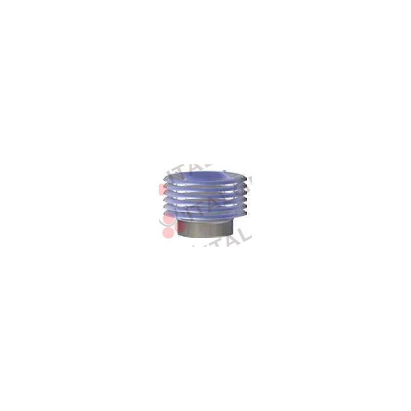CAPPELLO CON ALETTE IN ACCIAIO INOX AISI 316 PER LINEA EUROSTAR Ø80-100-120-130-140-150-160-180-200-220-250-300 mm