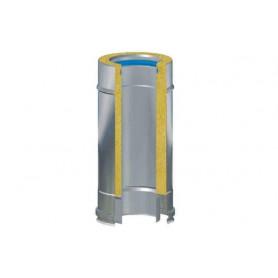 MODULO COIBENTATO FUMI IN ACCIAIO INOX AISI 316 DA CM50 Ø80-100-130-150-180-200-250-300-350 mm