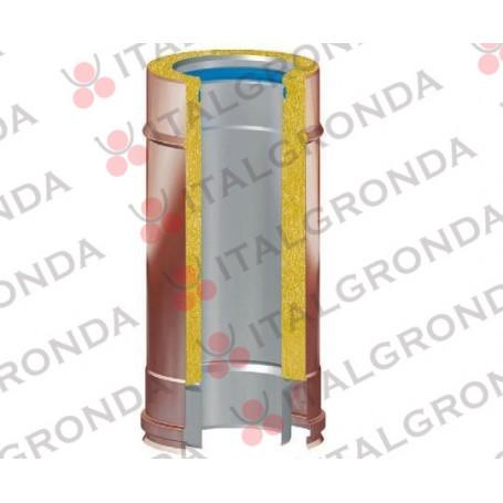 TUBO COIBENTATO FUMI RAME/INOX 316 DA CM70