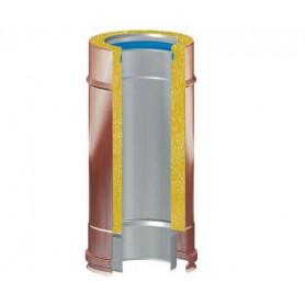 TUBO COIBENTATO FUMI ESTERNO RAME INTERNO INOX 316 DA CM50 Ø80-100-130-150-180-200-250-300-350 mm